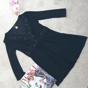 Express Black Empire Waist Top
